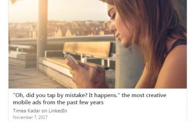"""Oh, did you tap by mistake? It happens."" the most creative mobile ads from the past few years"
